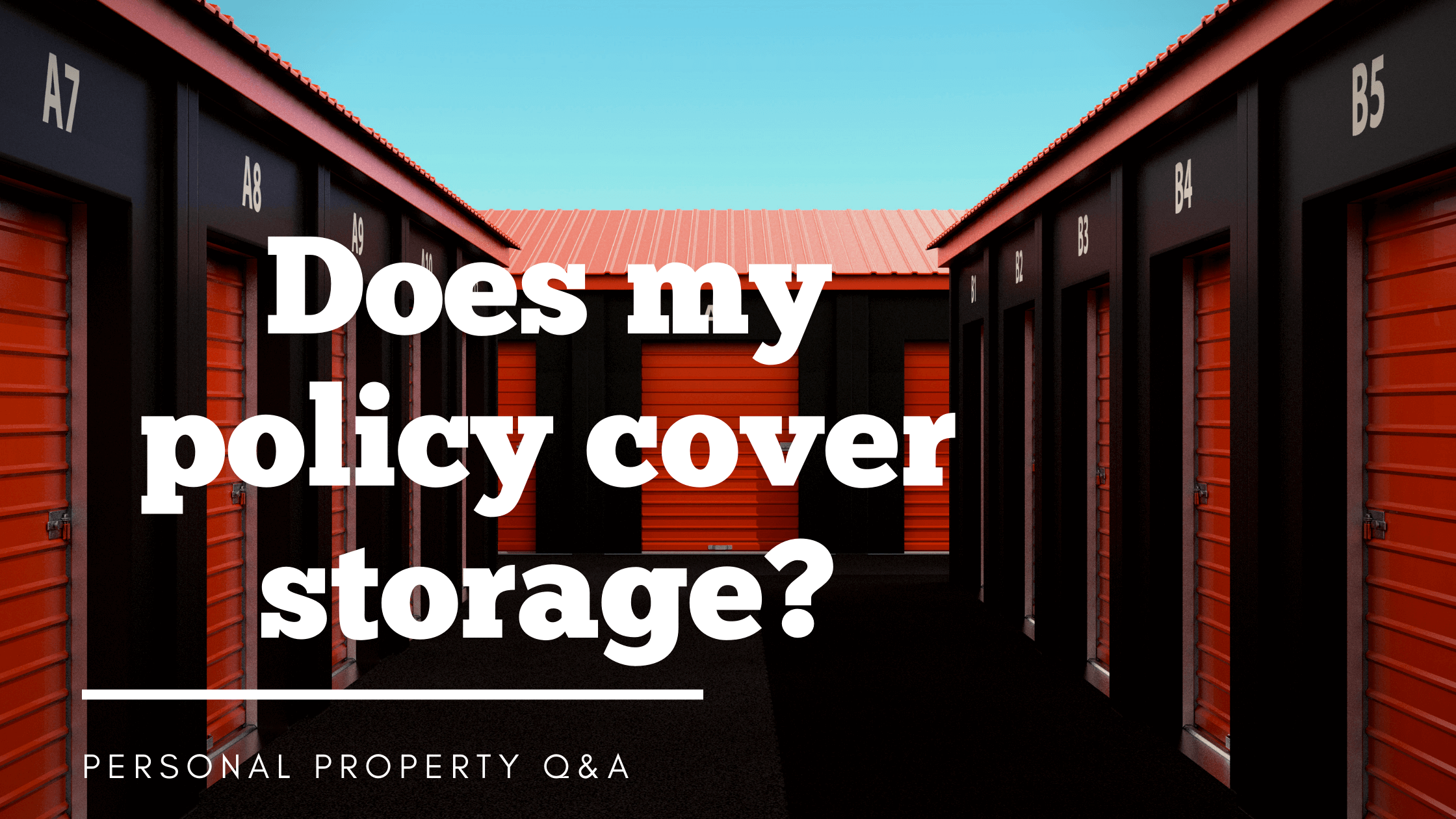 Does home or renter's insurance cover items in storage?