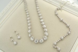 Diamond necklaces and diamond earrings